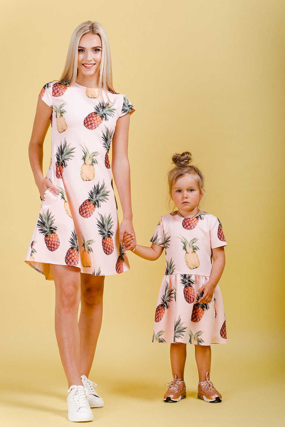 pineapple print matching dress mommy&me