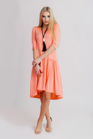 peach comfy dress