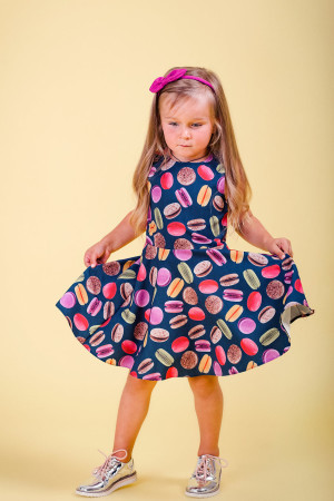 macarons print dress girls