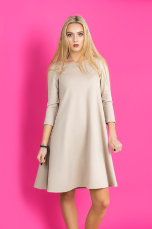 beige comfy dress