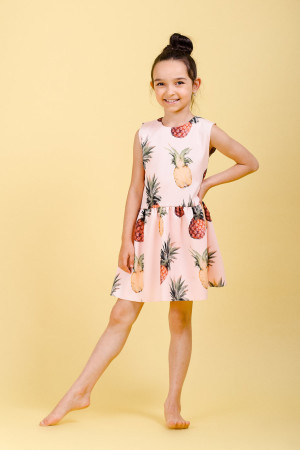 pineapple print dress girls